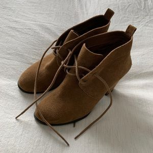 Lucky Brand Suede Lace-Up Booties